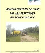 Zone pomicole - 2004 - Contamination de l'air par les pesticides
