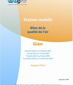 Evaluation de la qualité de l'air à Gien en 2007